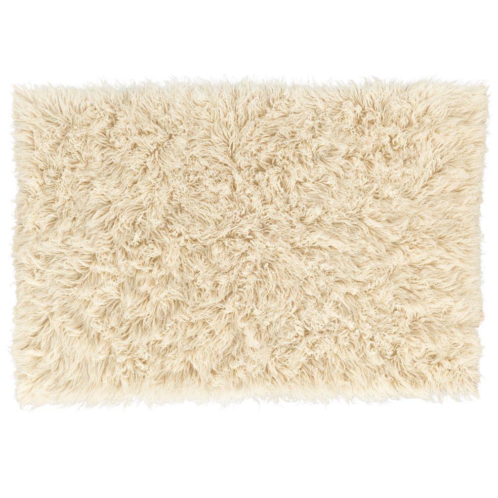 Flokati Rug White, Fluffy and Clean