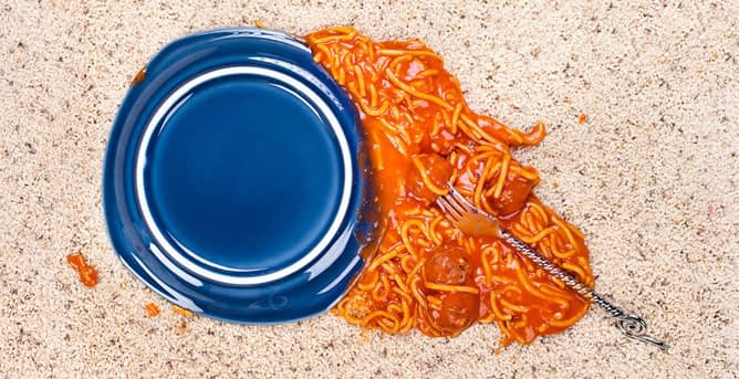 spaghetti stains